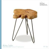 カフェにいるようなおしゃれデザインムクテーブルリビングテーブルサイドテーブルミニテーブルレトロアンティーク風アイアン机木製天然木無垢TTF-185