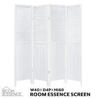 パーテーション高さ160cm4連パーティションスクリーン衝立目隠し間仕切り完成品飲食店オフィス木製天然木パインアジアンリゾートシンプルおしゃれホワイトOP-510WH