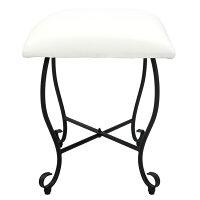 スツール高さ45cmエントランスチェアドレッサー腰掛椅子椅子いすチェアー座り心地アジャスターリビングカフェ玄関キッチンスパニッシュテイスト可愛いお姫様姫系DS-H3271S