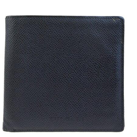 4ccf78562662 送料無料 【】 中美品 ブルガリ BVLGARI 二つ折り 札入れ カード入れ 財布 ブラック レザー 07EF221 送料無料!き手数料無料!毎日  新商品を続々入荷しています!