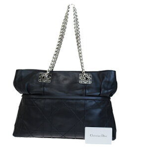 [Used] Medium Goods Christian Dior Christian Dior Chain Shoulder Bag Canage Black Leather 84EP391