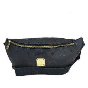 [使用]中号美容产品MCM MCM腰包袋黑色PVC皮革69EZ803
