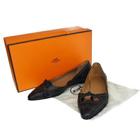 レディース靴, パンプス  HERMES 34.5 22cm 66MC645
