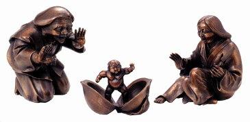 置物 ■ 桃太郎 ■蝋型青銅製 桐箱入り【高岡銅器】