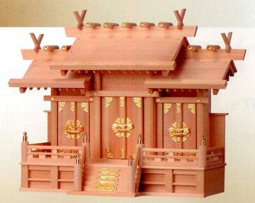 お宮 神棚 神殿■ 檜製 屋根違い三社 大 ■檜製神殿【日本製】