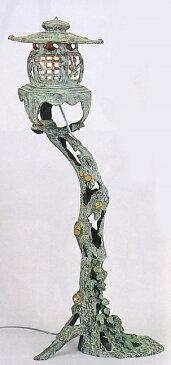 庭園置物■ 4尺 古木燈籠 ■電装・つた蛙付 青銅(ブロンズ)製 【高岡銅器】