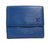 ルイヴィトンエピWホック財布ブルー二つ折り財布M63485カルトクレディLVメンズレディースLOUISVUITTONルイ・ビトンルイ・ヴィトンルイビトン【中古】