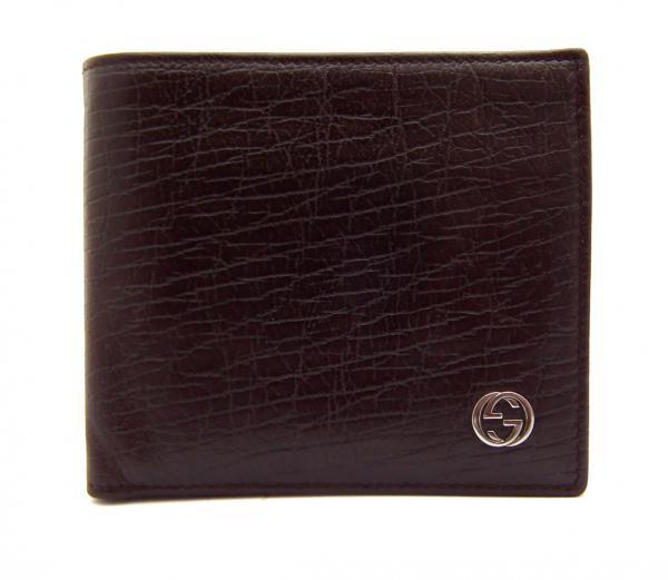 e02b5439e100c Image is loading Gucci-leather-wallet-bi-fold-with-interlocking-G-