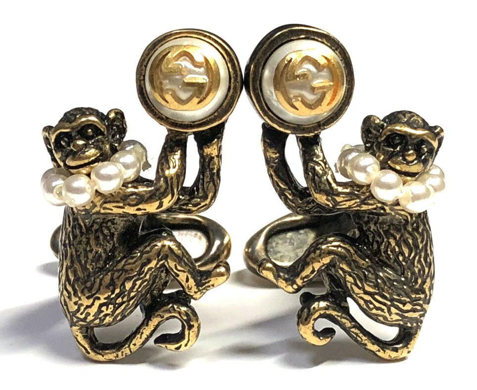 a19a53b420c Image is loading Gucci-cuffs-cufflinks-glass-beads-GG-Monkey-amp-