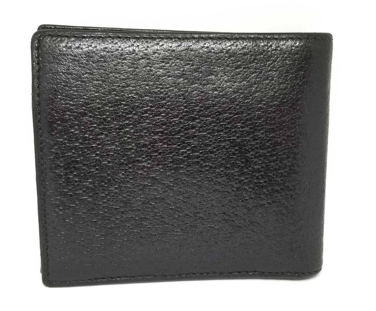 db42e837a42 Gucci purse leather crest coin wallet bi-fold case there is coat of ...