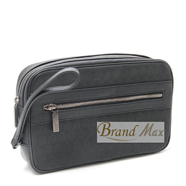 【BrandMax】ダンヒル/ウインザー セカンドバッグ PVCコーティング ブラック L3K791A【未使用展示品】:BrandMax