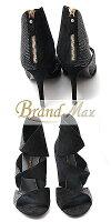【BrandMax】ルイヴィトン/LouisVuitton/サンダル/スエード/ブラック/23.5cm/【未使用展示品】
