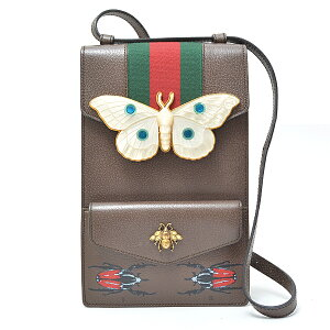GUCCI GUCCI Insect Motif Shoulder Bag 488696 Leather [Used]