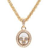 ショパール Chopard 79/2073-20 ハッピーダイヤモンド 3Pムービングダイヤ ネックレス 750YG イエローゴールド【中古】