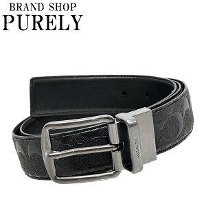 コーチ COACH 小物 メンズベルト アウトレット レザー シグネチャー F55157 BLK ブラック コーチ COACH メンズ MMM