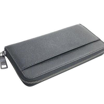 コーチCOACH財布長財布(小銭入れあり)メンズアウトレットレザークロスグレーンレザーアコーディオンジップウォレットF58107BLKブラックコーチCOACHメンズ