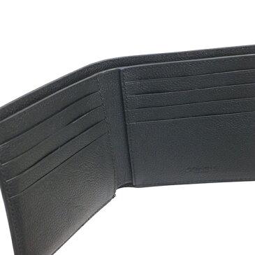 ★全品ポイント2倍★コーチ COACH 財布 折りたたみ財布 メンズ アウトレット レザー 二つ折り カーフ ビルフォード F75084 BLK ブラック コーチ COACH メンズ MMM