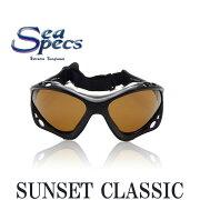 シースペック ウォーター スポーツ サングラス ブラック ブラウン レディース