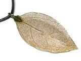 ペンダントトップリーフゴールド本物の葉っぱ使用オリジナルナチュラルはっぱペンダントヘッド