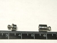 マグネットクラスプアクセサリーパーツ差込式ロジウム約15×6mm(1個セット)写真2