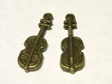 チャーム バイオリン 約26×7mm【1個販売】 楽器 音楽 アクセサリーパーツ ハンドメイド DIY