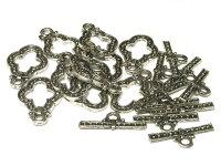 マンテルアクセサリーパーツエスニック銀古美約31×20mm(1ペア販売)写真その3