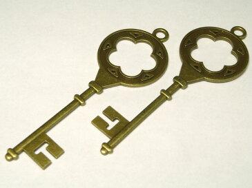 チャーム アンティークキー ビッグ 約110×38mm 1個 アクセサリーパーツ 鍵