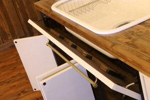 ニューヨークスタイル・キッチン・55-吊り戸棚セット-W2400キッチン西海岸風クラシックオーダー手作り幅240cmガスコンロIHカントリー日本製収納rfmktn