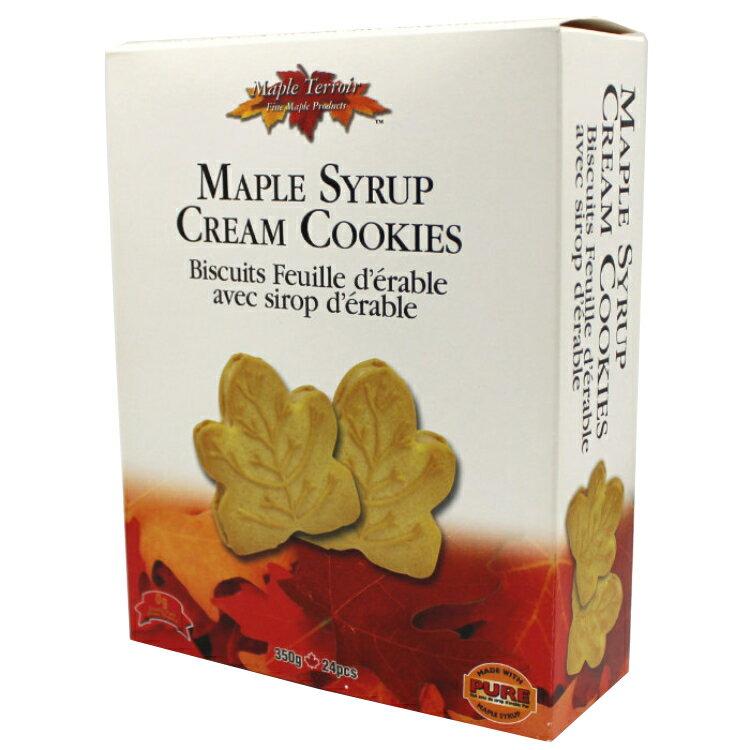 メープル クリーム クッキー 24枚入り 350gカナダ土産で人気No.1クッキー メープルテルワー ブランド が激安カナダ旅行 お土産袋サービス 日本語表示シールも剥がし