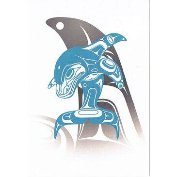ポストカード ネイティブ アート イラスト デザイン カナダ 先住民 インディアン 雑貨 [ Whale Tradition ]