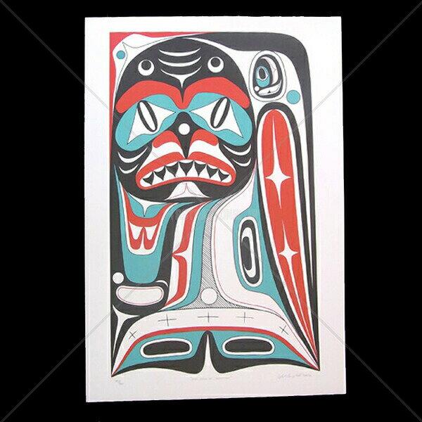 アート シルクスクリーン 画 カナダ 先住民 ネイティブ インディアン 限定エディション 140/160 [ DOG DAYS OF SUMMER ]