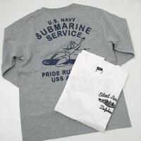 AVIREXアヴィレックス(アビレックス)6103403SUBMARINEピンナップガール刺繍長袖Tシャツ
