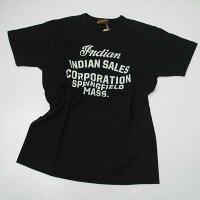 インディアンモーターサイクルIM78524-119INDIANMOTORCYCLEプリント半袖Tシャツブラック