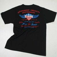 インディアンモーターサイクルIM78520-119INDIANMOTORCYCLEバックプリント半袖Tシャツブラック