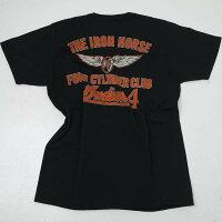 インディアンモーターサイクルIM78522-119INDIANMOTORCYCLEバックプリント半袖Tシャツブラック