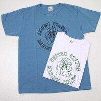 "BuzzRicksonsバズリクソンズBR78292プリント半袖Tシャツ""U.S.MARINECORPS""両面プリント"