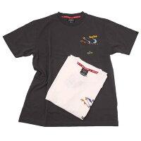 AlphaアルファTC1461-1ALPHA×LOONEYTUNESROADRUNNNERルーニーテューンズロードランナーポケット付半袖Tシャツ