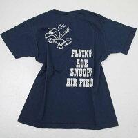 BuzzRicksonsバズリクソンズBR78150BUZZRICKSON'S×PEANUTSFLYINGACE,AIRFIELDプリント半袖Tシャツ