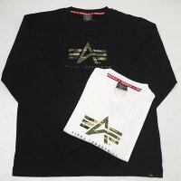 AlphaアルファTC1430-1アルファAマークカモ長袖Tシャツ