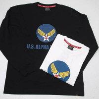 AlphaアルファTC1430-7U.S.ALPHAAIRFORCES長袖Tシャツ