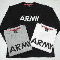 AlphaアルファTC1430ARMYプリント長袖Tシャツ