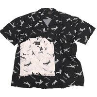 AlphaアルファTS5111アロハシャツ半袖総柄レーヨンオープンカラーシャツメンズトップスシャツ開襟ショートスリーブ