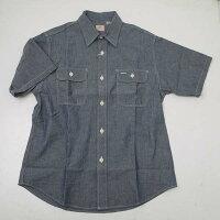 SUGARCANEシュガーケーンSC37941-421シャンブレー半袖ワークシャツブルー