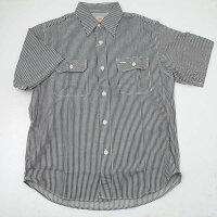 SUGARCANEシュガーケーンSC37944-119ヒッコリーストライプ半袖ワークシャツ