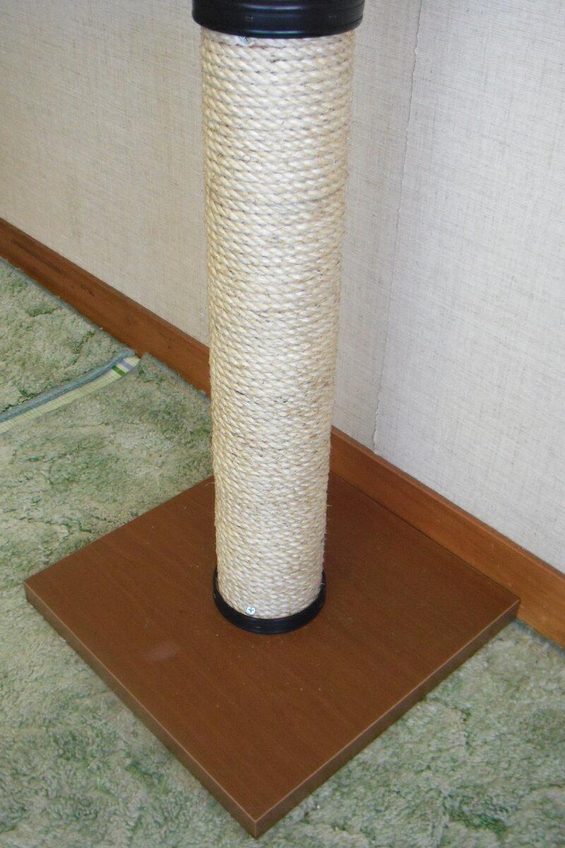 キャットタワー【!】国産手作り 麻縄巻きポール 棚板1枚 ベージュ