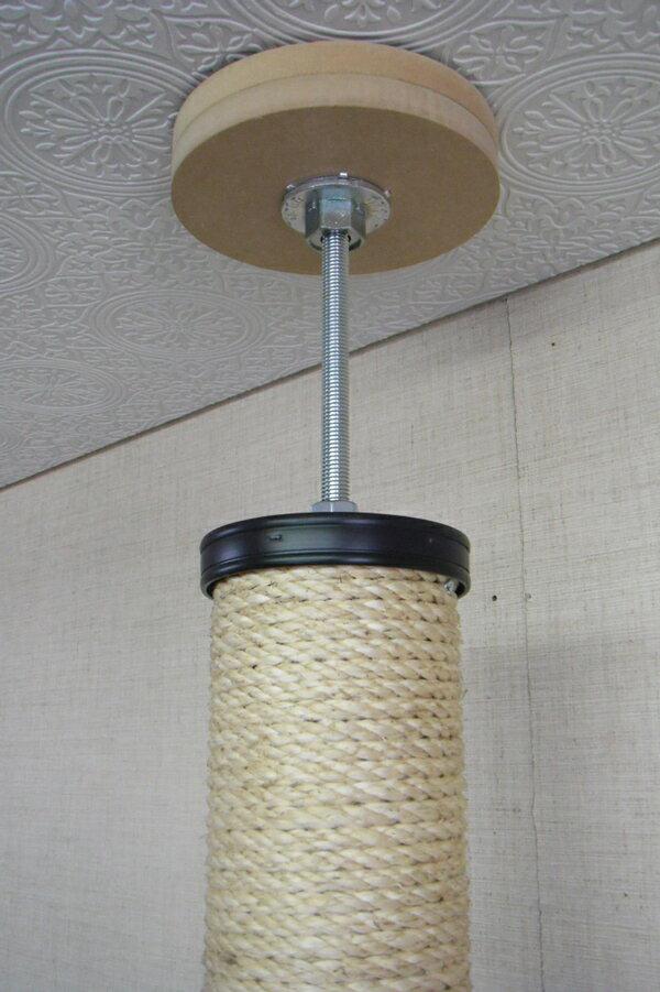 キャットタワー【!】国産手作り 麻縄巻きポール 棚板1枚 ライトブラウン