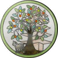 陶器の温かさとイタリアンアートに溢れる飾り皿!アントニオ・ザッカレラD002陶器飾り皿ZD002-005