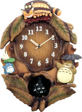 鳩時計 トトロの振り子時計 カッコー時計 トトロM837N 名入れ リズム時計 4MJ837MN06 開業祝い 誕生日 記念日 記念 出産お祝い 新築お祝い 結婚お祝い 内祝い お返し 開店お祝い ギフト お洒落 プレゼント