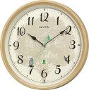 報時掛け時計409 日本野鳥の会 四季の野鳥 電波掛け時計