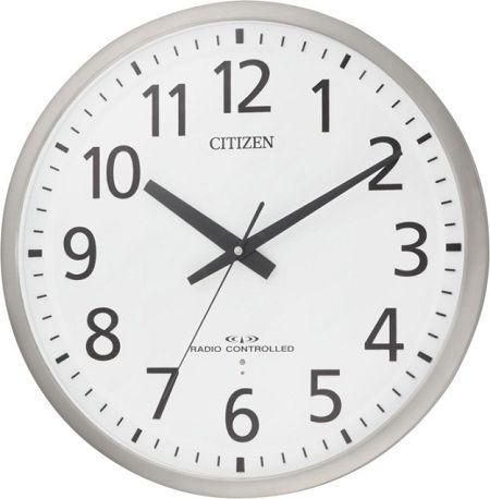 シチズン大型掛け時計 電波掛け時計 オフィス時計 スペイシーM465 8MY465-019 シチズン時計 電...